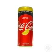 Вода Кока-кола 0,33л ж/б Zero Лимон Новинка – ИМ «Обжора»