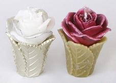 Декоративная свеча Роза 11см, 2 вида Q00-129 – ИМ «Обжора»