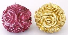 Декоративная свеча Шар из роз 8см, 2 вида Q00-121 – ИМ «Обжора»