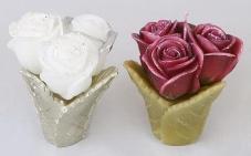 Декоративная свеча Букет роз 10см, 2 вида Q00-131 – ИМ «Обжора»