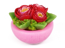 Декоративная свеча Букет Роз 11см Q00-332 – ИМ «Обжора»