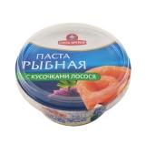 Паста рыбная Санта 160г с кусочками лосося НОВИНКА – ИМ «Обжора»