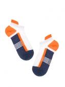Носки ACTIVE 16С-72СП, размер 27, 083 ультракороткие джинс-оранжевый мужские – ИМ «Обжора»