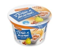 Десерт Точно Молочно 5% 180г з джемом груша и карамель ст, Новинка – ИМ «Обжора»