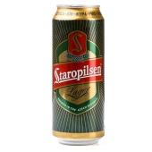 Пиво Staropilsen 0,5л ж/б темное Новинка – ИМ «Обжора»