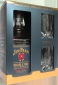 Виски Jim Beam Double Oak  0,7 л+2 бокала Набор – ИМ «Обжора»