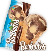 Мороженое Ласка 70 г Барбадос какао со сгущенным молоком вафельный стакан – ИМ «Обжора»