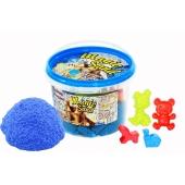 Кинетический песок Magic sand голубого цвета, в ведре 0,500 кг – ИМ «Обжора»