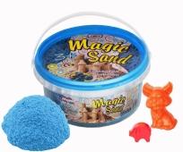 Кинетический песок голубого цвета Magic sand, в ведре 0,350 кг – ИМ «Обжора»