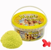 Кинетический песок Magic sand желтого цвета, в ведре 0,350 кг – ИМ «Обжора»