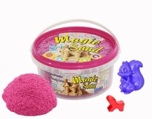 Кинетический песок Magic sand розового цвета в ведре 0,350 кг – ИМ «Обжора»