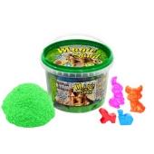 Кинетический песок Magic sand зеленого цвета, в ведре 0,500 кг – ИМ «Обжора»