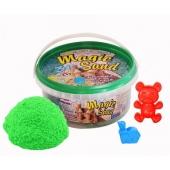 Кинетический песок Magic sand зеленого цвета в ведре 0,350 кг – ИМ «Обжора»