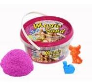 Кинетический песок Magic sand розового цвета в ведре 0,500 кг – ИМ «Обжора»