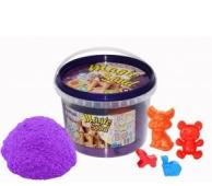 Кинетический песок Magic sand сиреневого цвета в ведре 0,350 кг – ИМ «Обжора»