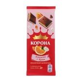 """Шоколад """"Корона"""", 85 г, апельсин-крем – ИМ «Обжора»"""