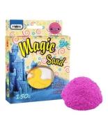 Кинетический песок Magic sand розового цвета, с формой 0,150 кг, в коробке 14см-11см-3,2см – ИМ «Обжора»