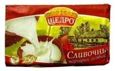 """Маргарин """"Щедро"""", """"Вершковий"""" особый, 72%, 250 г – ИМ «Обжора»"""