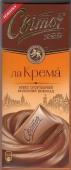 """Шоколад """"Світоч"""", Ла крема, молочный, 90 г – ИМ «Обжора»"""