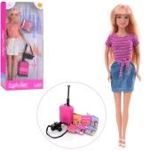 Лялька DEFA 8377-BF валіза, фотоапарат, кор., 15-32-5 см. – ІМ «Обжора»