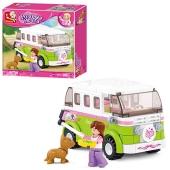 """Конструктор """"Розовая мечта"""", SLUBAN M38-B0523: автобус, 158 деталей – ИМ «Обжора»"""