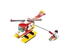 """Конструктор """"Пожарный вертолет"""", SLUBAN M38-B3500, 107 деталей, 19-14-4,5 см – ИМ «Обжора»"""