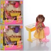 Лялька DEFA 8298 парта, рюкзак, стільчик,  кор., 15-16,5-6 см – ІМ «Обжора»