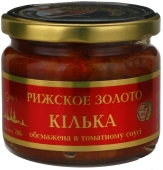 """Килька, обжаренная в томатном соусе, """"Рижское золото"""", 280 г – ИМ «Обжора»"""
