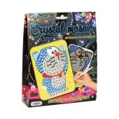 """Картинка со стразами Crystal mosaic, """"Котик"""" в коробке 19,3 см - 15,3 см - 4,2 см – ИМ «Обжора»"""
