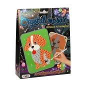 """Картинка со стразами Crystal mosaic """"Собачка"""" в коробке 19,3 см- 15,3 см - 4,2 см – ИМ «Обжора»"""