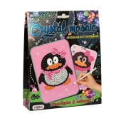 """Картинка со стразами Crystal mosaic 3045 """"Пингвин"""", в коробке 19,3 см- 15,3 см - 4,2 см – ИМ «Обжора»"""