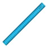 Лінійка пластикова 30 см, Delta, блакитна – ІМ «Обжора»