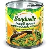 Горошек экстра нежный с морковкой,  Бондюэль, 400 г – ИМ «Обжора»