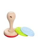 Штамп для печенья D 6.5 см, силикон/древесина – ИМ «Обжора»