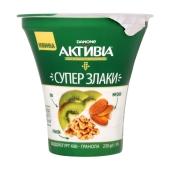 Бифидойогурт Данон Активиа 3% 230 г киви - гранола стакан – ИМ «Обжора»