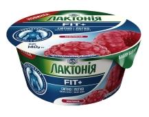 Крем сырковый Лактонія Малина нежирный 140 г – ИМ «Обжора»
