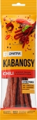 Кабаноси KABANOSY CHILI зі свинини з перцем чилі 100 гр тм KABANOSY – ІМ «Обжора»