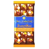 Шоколад Миллениум Fruits&Nuts миндаль фундук курага изюм 80 г – ИМ «Обжора»