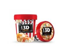 Мороженое Ласка  0,5 кг 3D Соленая карамель, попкорн – ИМ «Обжора»
