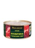 Конс, Meat Selected 325г Яловичина у власному соку ж/б – ІМ «Обжора»