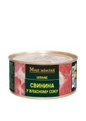 Конс, Meat Selected 325г Свинина у власному соку ж/б – ІМ «Обжора»