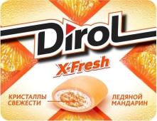 Жвачка Дирол Икс Фреш мандарин – ИМ «Обжора»