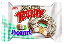 Бисквит ELVAN TODAY DONUT Кокос 50 г – ИМ «Обжора»