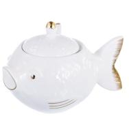 Икорница-рыбка . 2 предмета . 12 см, фарфор – ИМ «Обжора»