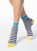 Шкарпетки жін, CLASSIC 7С-22СП , р,23 , 087 біло-темно-сірий – ІМ «Обжора»