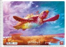 Альбом для рисования А4 30 листов на спирали «Star» 149 – ИМ «Обжора»
