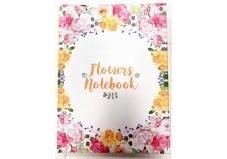 Блокнот, А5, 80 листов., клетка, Flowers Nonebook – ИМ «Обжора»