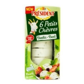 Сыр President из козьего молока с базиликом 45% 100 г – ИМ «Обжора»