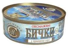 Бычки, обжаренные в горчичном соусе Союз-Морей 250 г – ИМ «Обжора»