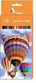 Карандаши цветные, 12 цветов., `Воздушные шары` – ИМ «Обжора»